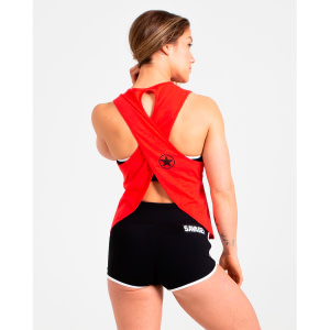 Crossback Tank Top Scarlet Red - Savage Barbell