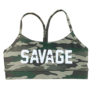 Sport Bra Green Camo - Savage Barbell