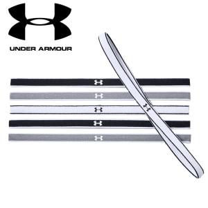 Under Armour 6-Pack Headbands Black White