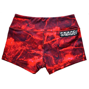Booty Shorts Savage Barbell - Lava