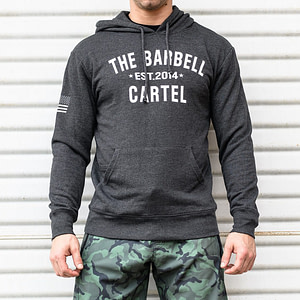 The Barbell Cartel Classic Logo Hoodie Charcoal (Unisex)