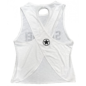 Crossback Tank Top Savage Barbell Stormy White