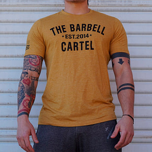 T-shirt The Barbell Cartel Classic Logo Gold