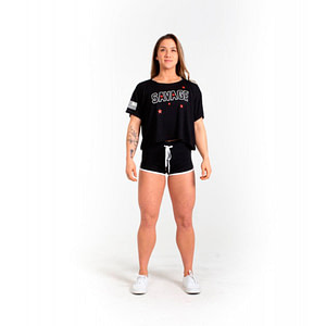 Varsity Booty Shorts Black - Savage Barbell
