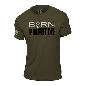 T-shirt Born Primitive Honor the Fallen Green