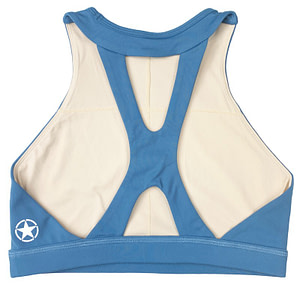 Sports Bra High Neck Blue Steel - Savage Barbell