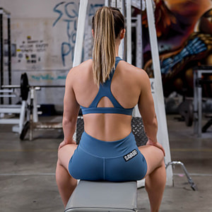 Booty Shorts Steel Blue - Savage Barbell