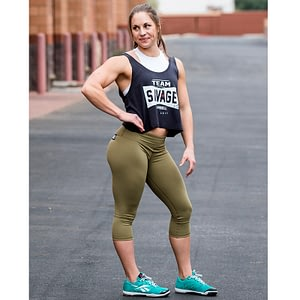 Capri Leggings Savage Barbell Army