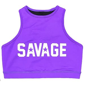 Soutien Desportivo Savage Barbell High Neck Purple