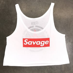 Crop Top Savage Barbell Savage Box White