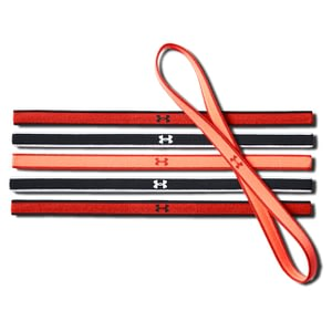 Under Armour 6-Pack Headbands Multi Red