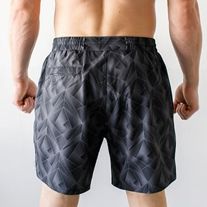 Born Primitive Training Shorts Geometric Grey