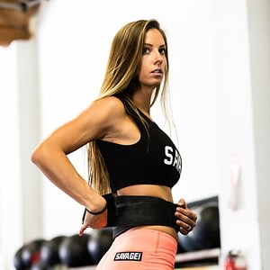 Savage Barbell Soutien Desportivo Crop Tee Black