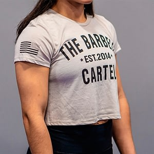 The Barbell Cartel Classic Logo Cropped T-Shirt Sand