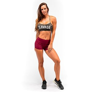 Booty Shorts Burgundy - Savage Barbell