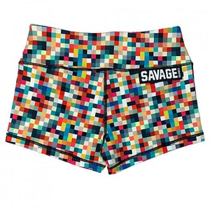 Booty Shorts Tetris - Savage Barbell