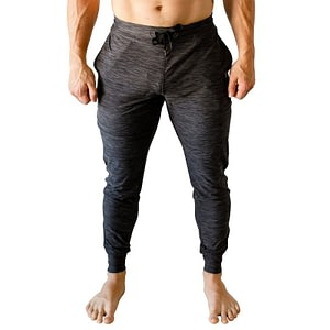 Men Rest Day Joggers Heather Black - Born Primitive