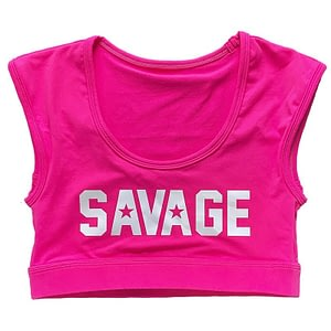 Sport Bra Crop Tee Raspberry - Savage Barbell