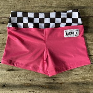 Comp Short 2.0 - Pink Checker - The Barbell Cartel