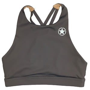 Sports Bra 4 Strap High Chest Pepper - Savage Barbell