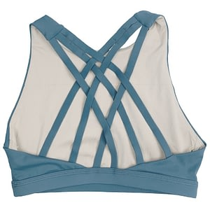 Sports Bra 6 Strap High Chest Blue - Savage Barbell