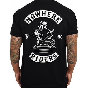 Men T-shirt Nowhere Riders Black – PROJECT X