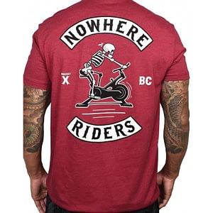 Men T-shirt Nowhere Riders Red – PROJECT X