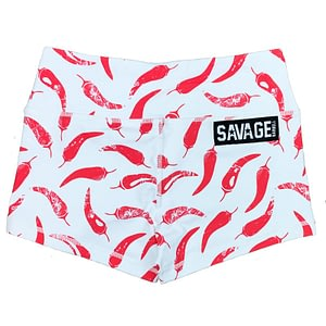 Booty Shorts Chili Pepper - Savage Barbell