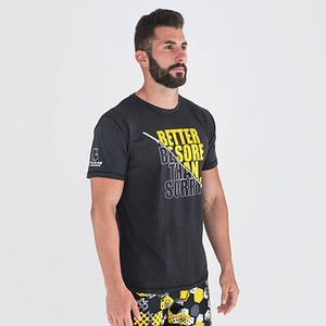 T-shirt Don't Be Sorry Black Yellow – Titan Box Wear
