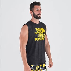 T-shirt Resilience Black Yellow – Titan Box Wear