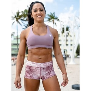 Booty Shorts Mauve Tie and Dye - Savage Barbell