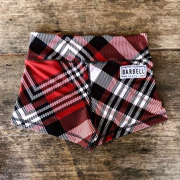 Comp Short 2.0 - Red Plaid - The Barbell Cartel