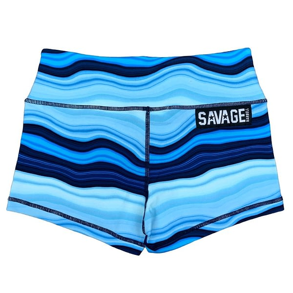 Booty Shorts Blue Marble - Savage Barbell