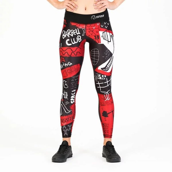 Leggings Tights OLY Red – Titan Box Wear