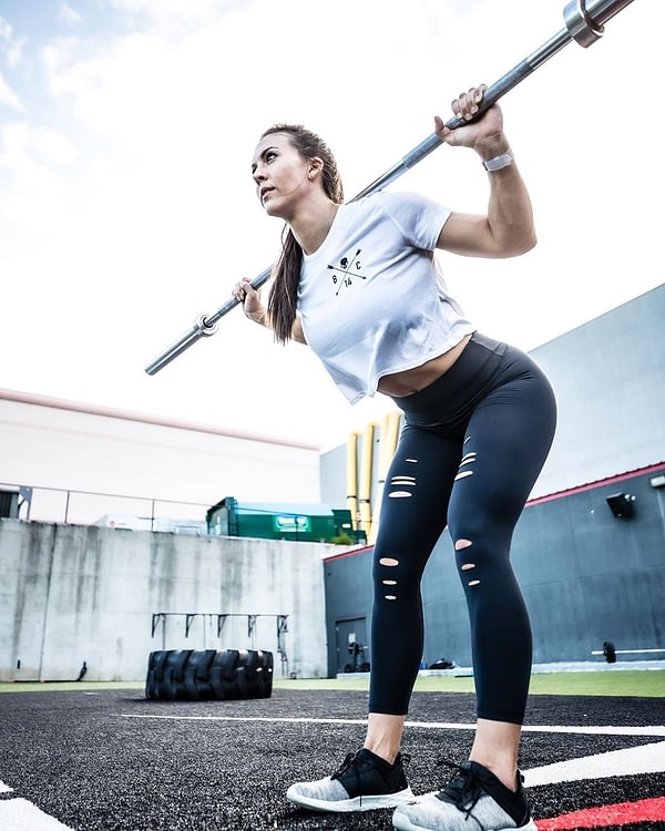 Skull and Arrow Crop Tee - White - The Barbell Cartel